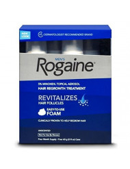 Rogaine Men Foam Unscente Size, 2.11 Ounce, 4 Count