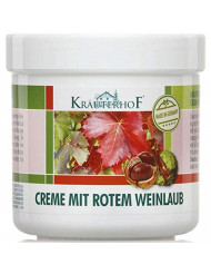 KrauterhoF Foot Cream for Varicose Veins with horse chestnut and red vine leaves