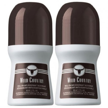 Wild Country Roll-On Anti-Perspirant Deodorant for Men 1.7 fl oz (2 Pack)