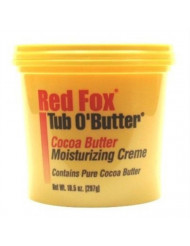 Red Fox Tub O'Butter Cocoa Butter, Moisturizing Creme, 14 oz (Pack of 3)