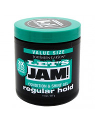Lets Jam Condition & Shine Gel Regular Hold 14 Ounce Jar (414ml) (3 Pack)