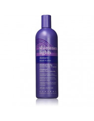 Clairol Professional Shimmer Lights Shampoo Blonde & Silver 16 oz (Pack of 3)