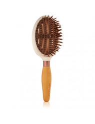 EcoTools Cruelty Free and Eco Friendly Sleek and Shine Finisher Hairbrush, Made with Recycled and Sustainable Materials