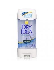 Dry Idea Advanced Dry Unscented Antiperspirant and Deodorant Clear Gel, 3 oz.