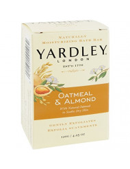 Yardley Moisturizing Bar Naturally, Natural Oatmeal and Almond - 4.25 Oz, 6 Pack by Yardley