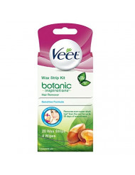 Veet Ready-To-Use Wax Strips Hair Remover - 20 CT