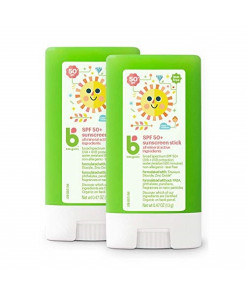 Babyganics Sunscreen Stick 50 SPF, .47oz, 2 Pack, Packaging May Vary