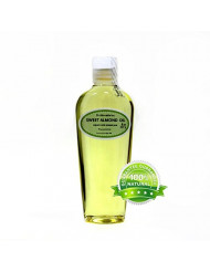 Sweet Almond Oil Organic Pure Cold Pressed by Dr.Adorable 8 Oz