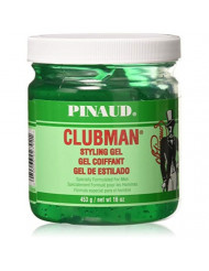 Pinaud Clubman Hair Styling Gel, Original - 16 Oz (Pack of 3)