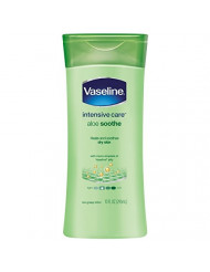Vaseline Intensive Care Aloe Soothe Non-Greasy Lotion 10 oz, Pack of 6