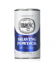 Magic Shaving Powder Blue 5 Ounce Regular Depilatory (145ml) (6 Pack)