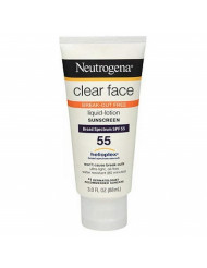 Neutrogena Clear Skin Sunscreen Lotion, SPF 55, 3 Ounce ( Pack Of 4 )