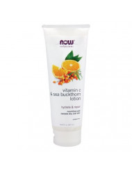 Now Foods Vitamin C and Sea Buckthorn Lotion - 8 fl. oz. 4 Pack