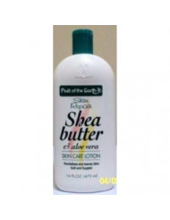 Skin Repair Shea Butter & Aloe Vera Skin Care Lotion 16 oz Made in USA by Fruit of the Earth