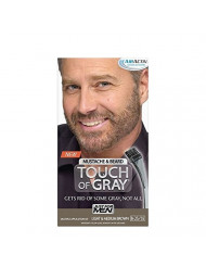 Just for Men Touch of Gray Brush-In Mustache & Beard Color Kit, Light & Medium Brown
