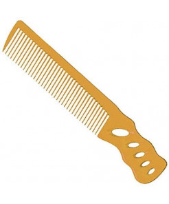 YS Park 238 Short Hair Design Comb [Angle Handle] - Camel