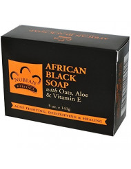 Nubian Heritage African Soap with Shea Butter Oats and Aloe Deep Cleansing, 5 oz, Black (pack of 3)