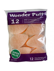 Wonder Puff Deep Cleansing Puffs 12 ea (Pack of 2)