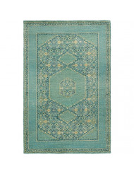 Surya Hand Knotted Casual Accent Rug, 3-Feet 6-Inch by 5-Feet 6-Inch, Teal/Forest/Olive
