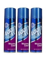 Arrid XX Aerosol Spray Antiperspirant & Deodorant, Morning Clean - 6 oz - 3 pk