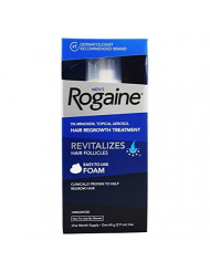 Rogaine Mens Hair Regrowth Foam 5% Unscented 1 Month Supply (Pack of 2)