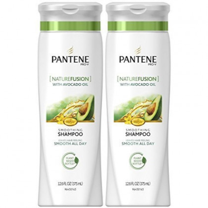 Pantene Pro-V Nature Fusion Smoothing Shampoo with Avocado Oil - Powered by Cassia - 12.6 oz - 2 pk