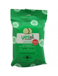 Yes To Cucumber Gentle Facial Towelettes - 10 per pack - 8 packs per case.
