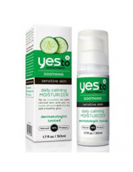 Yes To Cucumbers Soothing Daily Calming Moisturizer, Sensitive Skin 1.70 oz (Pack of 2)