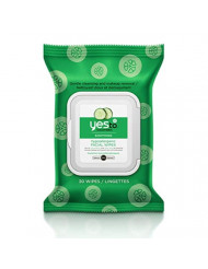 Yes To Cucumber Soothing Hypoallergenic Facial Wipes - 30 Count |For Sensitive Skin | Cleanse and Nourish All In One Swipe