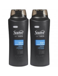 Suave Men 2 in 1 Shampoo and Conditioner, Ocean Charge, 28 Fluid Ounces- (Pack of 2)
