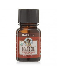 Badger Beard Oil Glass Bottle, 1 Ounce