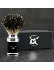 Pure Black Badger Hair Sophist Men's Shaving Brush. Perfect for everyday Use. Comes In A Designer Box.
