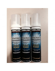 NEW - Kirkland Minoxidil for MEN Hair Growth Treatment Unscented 3 Month Supply Topical Aerosol 5% (Foam), (Compare to Men's Rogaine's Active Ingredient)