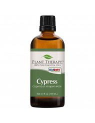 Plant Therapy Cypress Essential Oil 100% Pure, Undiluted, Natural Aromatherapy, Therapeutic Grade 100 mL (3.3 oz)