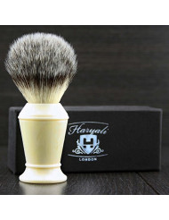 Soft Synthetic Hair Men's Shaving Brush in Ivory Colour Handle.Perfect Hair That Last Longer Then Any Hair