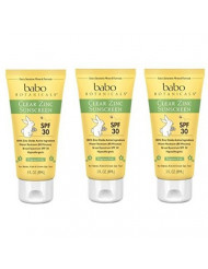 Sunscreen Spf 30, Unscented 3 Oz by Babo Botanicals (Pack of 3)