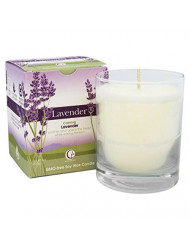 Way Out Wax Aromatherapy Scented Candle, Lavender Fragrance, (6 oz Clear Glass Tumbler); Hand Poured Soy Candles Scented w/ Pure Essential Oils, All-Natural