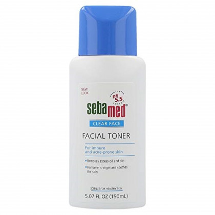 Sebamed Clear Face Deep Cleansing Facial Toner pH 5.5 for Acne Prone Skin Deep Cleans Pores and Moisturizes Removes Excess Oil and Dirt 5.07 Fluid Ounces (150 Milliliters)