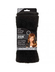 Studio Dry Microfiber Hair Towel, Black, 0.35 Pound