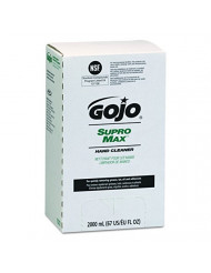 GOJO 7272-04 SUPRO Max Hand Cleaner, 2000Ml Capacity Pouch, Tan, 8.75 mm Height, 5.125 mm Width, 2000 mL