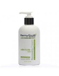 RemySoft Moisturelab Recovery Cream - Safe for Hair Extensions, Weaves and Wigs - Salon Formula Conditioner 8oz - Gentle Sulfate-free Lather