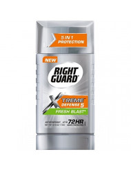 Right Guard Xtreme Defense 5 Anti-Perspirant & Deodorant, Fresh Blast 2.60 oz (Pack of 12)