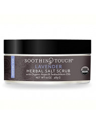 Soothing Touch Organic Herbal Salt Scrub Calming Lavender 10 Oz