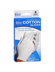 Cara 100% Dermatological Cotton Gloves Small 1 Pair (Pack of 4)