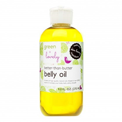 Better than Butter Belly Oil(Tangerine) | Pregnancy Stretch Mark Prevention | 9 fl oz. Lasts for up to 6 Months | Natural Oil and Vitamin E Enriched for Amazing Skin Pre/Post Pregnancy