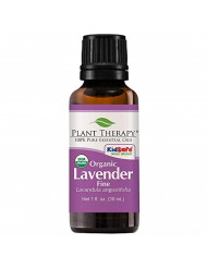 Plant Therapy Lavender Fine Organic 30 mL (1 oz) 100% Pure,Undiluted, Therapeutic Grade