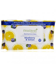 Bio Creative Lab Pfb White Radiance Exfoliating Facial Cleansing Wipes, Blueberry and Lemon, 60 Count