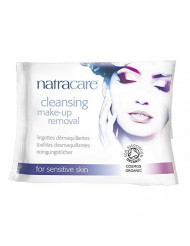 Natracare Organic cleansing make-up removal wipes, 20Count