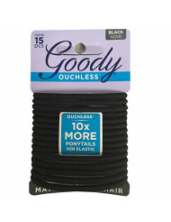 Goody WoMens Ouchless Braided Elastics, Black, 15 Count