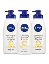 NIVEA Skin Firming Hydrating Body Lotion, 16.9 Fl. Oz (Pack of 3)